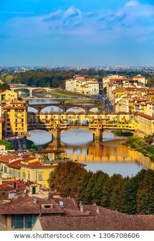 Florencia ciudad río Toscana región Foto stock © xbrchx