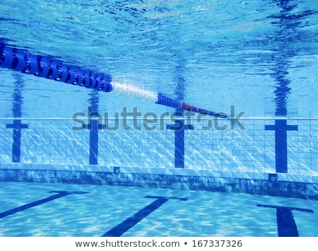 Olympic Swimming pool under water background. Stock photo © cookelma