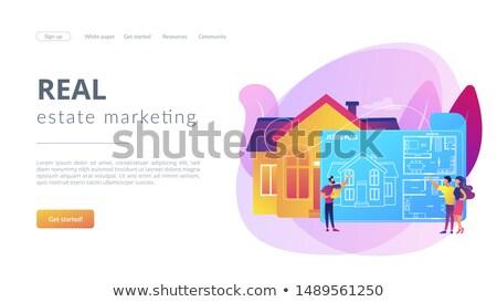 Real estate floor plan concept landing page Stock photo © RAStudio