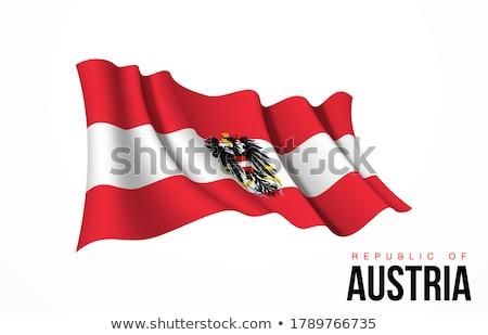 Áustria bandeira branco pintar assinar vermelho Foto stock © butenkow