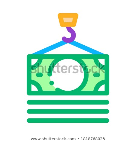 hook cash bill icon vector outline illustration Stock photo © pikepicture