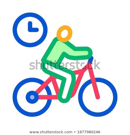 Ciclismo tempo ícone vetor ilustração Foto stock © pikepicture