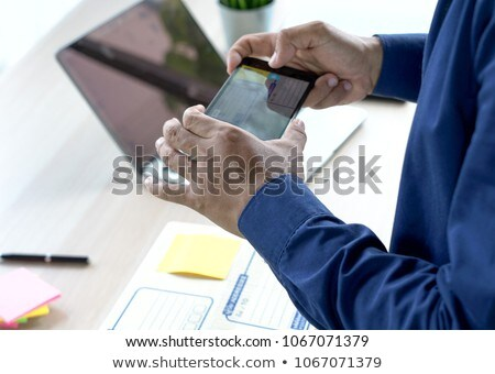 business owner entrepreneur SME or freelance get the order and w Stock photo © snowing