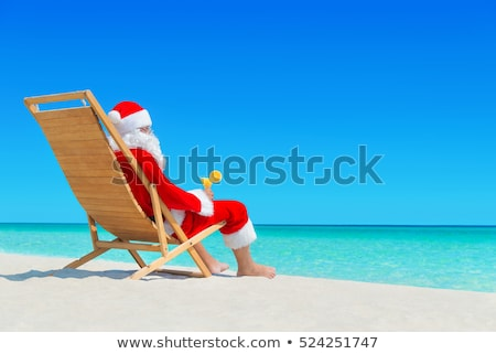 Summer sandy beach with vacationers Stock photo © jossdiim