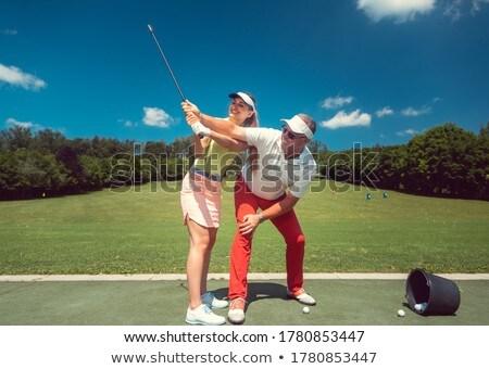 Golfe ensino mulher estudante condução alcance Foto stock © Kzenon