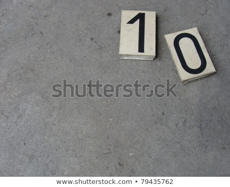 plastic 0 1 zero one number on gray stone surface                Stock photo © Melvin07