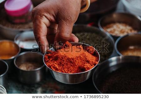 Hand holding chili Stock photo © leeser