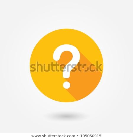 3D · botão · azul · ponto · de · interrogação · assinar · negócio - foto stock © stuartmiles