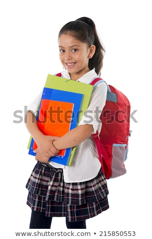 Girl with backpack and folder Stock photo © photography33