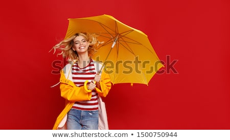 portrait of a young woman with umbrella Stock photo © photography33