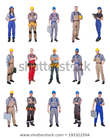 portrait of young electrician against white background Stock photo © photography33