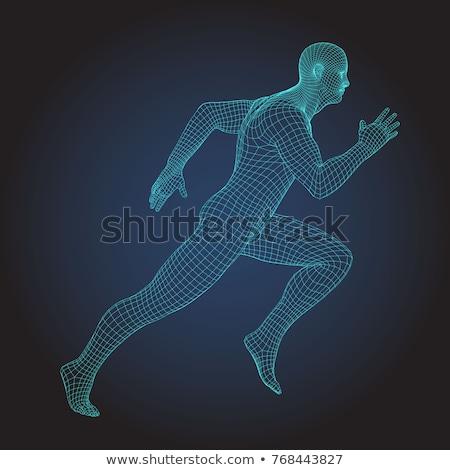 Digital corpo corrida forte freqüência cardíaca gráfico Foto stock © wavebreak_media