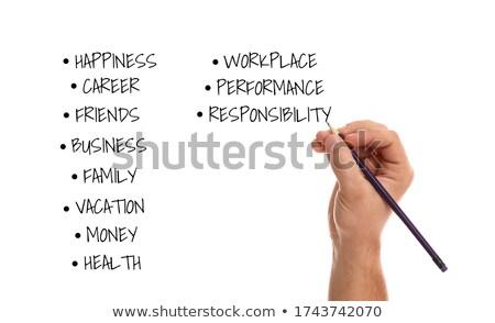 Stock fotó: Lista · szavak · betűrendes · rendelés · házasság · információ