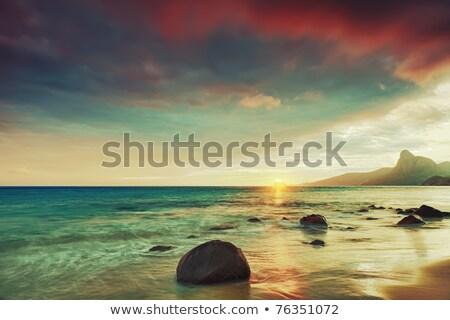 морской пейзаж пород лет сцена воды морем Сток-фото © goce