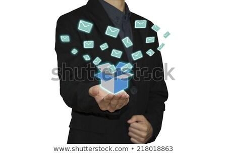 Envelop teken knop online mailbox Stockfoto © stuartmiles