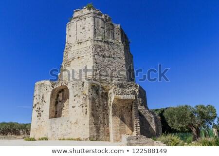 Római torony Franciaország építkezés kastély vakáció Stock fotó © Bertl123
