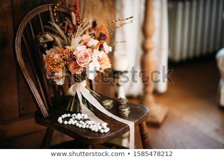 жених букет женщину цветы Сток-фото © c-foto