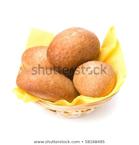 香ばしい · 新鮮な · パン · バスケット · 自家製 - ストックフォト © natika