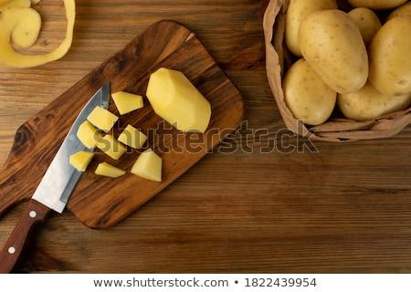 patates · beyaz · taze · patates · yalıtılmış - stok fotoğraf © juniart