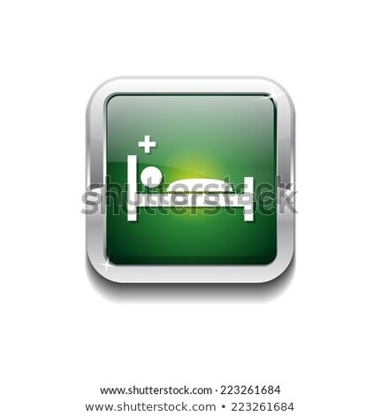Heath Care Bed Green Vector Icon Button Stock photo © rizwanali3d