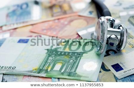 Stethoscoop euro geld Blauw medische financieren Stockfoto © fantazista