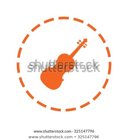 Violin Fidle Cutout Stock photo © Suljo