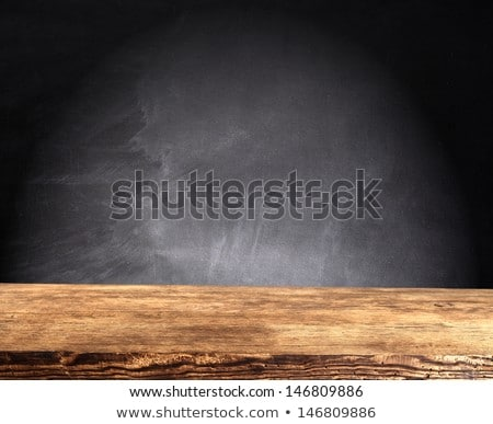 Schule Bord Holztisch Uhr Holz Hintergrund Stock foto © fuzzbones0