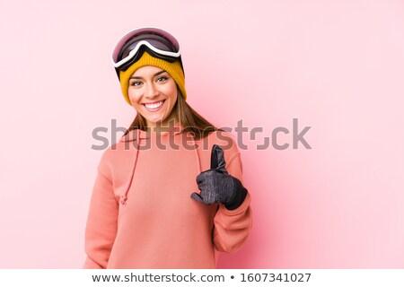 Like thumb up sign on snow Stock photo © zurijeta