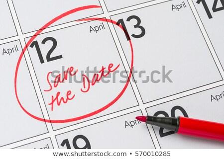 保存 日付 書かれた カレンダー 12 パーティ ストックフォト © Zerbor
