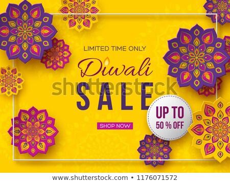 Stockfoto: Diwali · verkoop · banner · bloem · decoratie