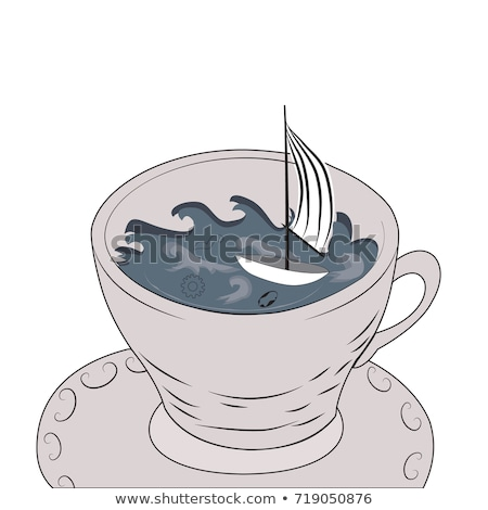 Stock photo: Tempest in a teapot.