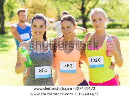 group of women drinking water in the boot camp stock photo © wavebreak_media