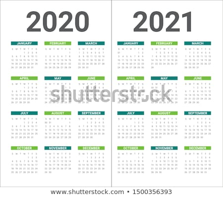 Simple 2020 year calendar Stock photo © user_11416357