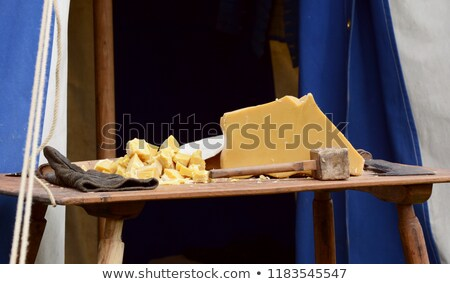 Large block of beeswax broken into chunks Stock photo © sarahdoow