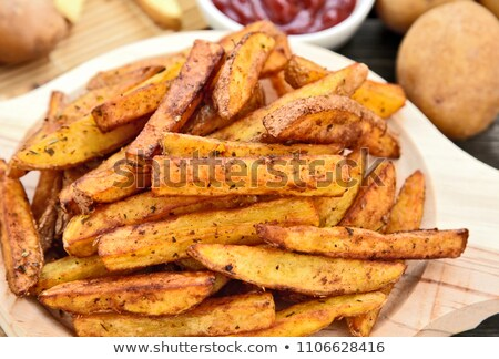свежие · картофель · фри · ковша · древесины · свежие · овощи · пива - Сток-фото © peteer