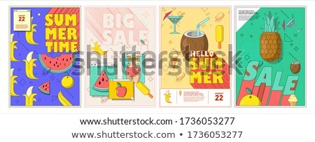 Summer Big Sale Summertime Vector Illustration Stock photo © robuart