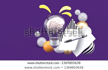3d pen on paper - knowledge is power Stock photo © ribah