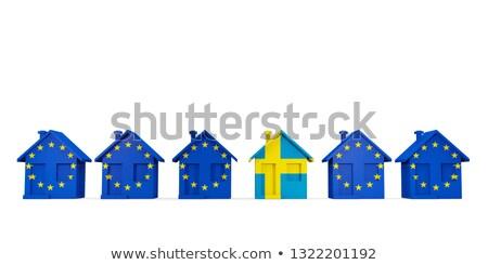 Domu banderą Szwecja rząd eu flagi Zdjęcia stock © MikhailMishchenko