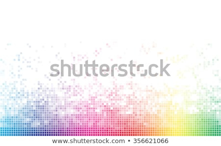 Stockfoto: Square Pixel Mosaic Light Multicolored Tile Background