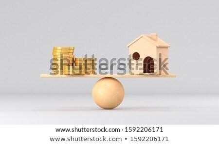 Geld witte geïsoleerd 3d illustration papier winkelen Stockfoto © ISerg