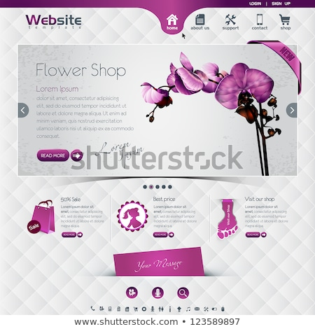 Flower graphic design template vector isolated Stock photo © haris99