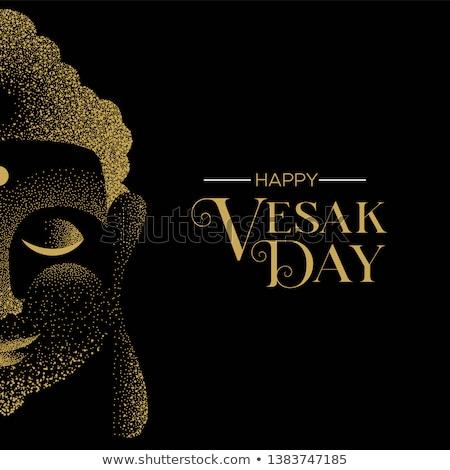 Giorno carta oro glitter buddha faccia Foto d'archivio © cienpies