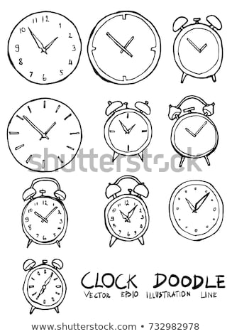 Clock with Hands and Lines, Time Isolated Icon Stock photo © robuart