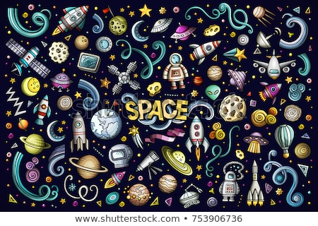 conjunto · espaço · elementos · astronauta · terra · lua - foto stock © netkov1