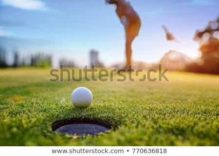 Jogador de golfe fora clube verde masculino Foto stock © lichtmeister