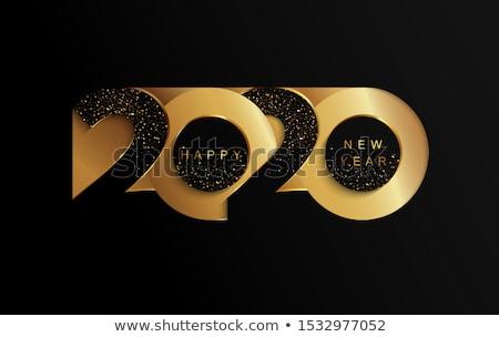 Nouvelle année glitter style fête heureux Photo stock © SArts
