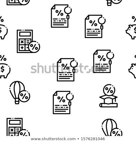 Betaaldag lening vector dun lijn Stockfoto © pikepicture
