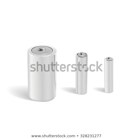 白 バッテリー 3D レンダリング 実例 孤立した ストックフォト © djmilic