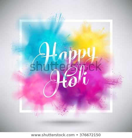 happy holi decorative festival celebration banner design Stock photo © SArts