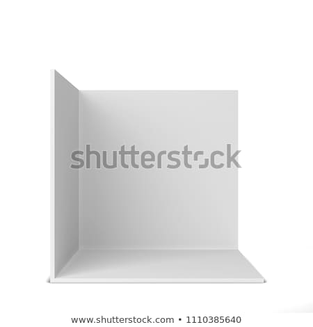 Simple trade show booth. Square corner Stock photo © montego